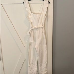 NWT adorable white jumpsuit!